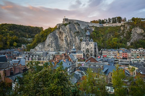 dinant town meuse valley belgium trappist beer trail